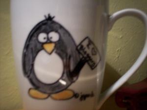 jen goode penguin mug
